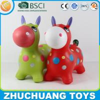 Buy cheap 6P free inflatable plastic toy bouncy race horse from wholesalers