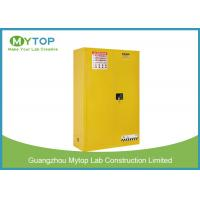 Buy cheap Yellow Color Fireproof Storage Cabinets For Flammable And Combustible Liquids from wholesalers