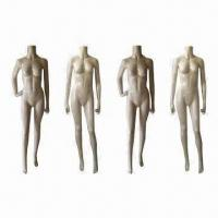 Buy cheap Headless female mannequins with realistic posture, offered in 4 poses from wholesalers