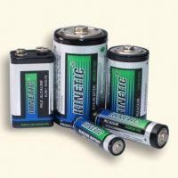 Wholesale Green Alkaline Batteries with Dual Language Printed Metal Foil Jacket from china suppliers