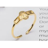 Buy cheap Beauty S925 Sterling Silver English Letters BABY Opening Adjustable Ring Gold - Plated Fashion Index Finger Ring from wholesalers