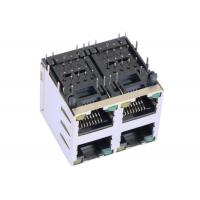 Buy cheap ARJM22A1-805-BA-EW2 2x2 Port Stacked Rj45 Right Angle With 2.5G Magnetic from wholesalers