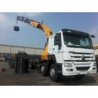 Buy cheap 5610mm Span SQ16ZK4Q 16000kg HOWO 6×4 Chassis  Knuckle Boom Lorry Crane With 11m from wholesalers