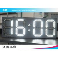 China White And White Led Clock Digital Clocks With Large Display , Long Lifespan on sale