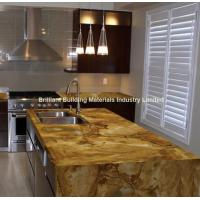 Buy cheap Luxury Palomino Quartzite Kitchen Countertop,  Brazil Yellow Quartzite Kitchen Countertop from wholesalers