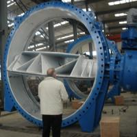Buy cheap DN2740 Double Eccentric Butterfly Valve , PN20 Large Diameter Butterfly Valves from wholesalers