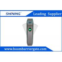 304 Stainless Steel Intelligent Flap Barrier Gate With Access Control Card Swipe