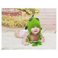 Wholesale Wholesale - green little fish baby hat cap handmade cotton Photography Prop Crochet Hats from china suppliers