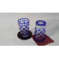 Buy cheap Eco - Friendly Colored Glass Water Set Blue Painting Tumbler Household from wholesalers
