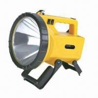 Buy cheap Rechargeable Handheld Spotlight with Halogen Bulb and 12V/7Ah Lead-acid Battery from wholesalers