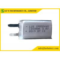 Buy cheap 3.0V Li-MNO2 batteries CP502440 1200MAH Ultra Thin Battery for RFID System 3V 1200mah CP502440 lithium battery from wholesalers