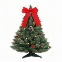 Buy cheap Decorated Fraser Fir Christmas Tree with Plastic Stand from wholesalers