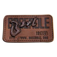 Buy cheap Customized stamped  sewing Logo  Leather Patches Real Leather For Garment from wholesalers