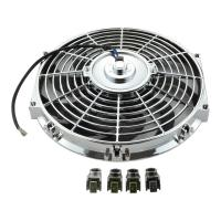 Buy cheap Universal 12 80W 12V suck cooler electric fan chrome plated auto cooling fan kits from wholesalers