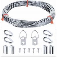 Buy cheap Picture Hanging Kit 7x7 Stainless Steel Wire Rope & Fittings Supports Up To 33 Lbs from wholesalers