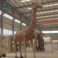 Buy cheap Life size artificial animatronic animal giraffe for sale from wholesalers