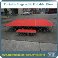 Custom color carpet portable stage platform with TUV certificate event stage small stage easy assemble Manufactures