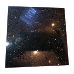Buy cheap Black Galaxy Artificial Quartz Stone Slabs , Black Galaxy Quartz Countertop from wholesalers