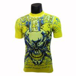Buy cheap Short Sleeve Green Bodybuilding Compression Shirts / Weightlifting Compression Shirts from wholesalers
