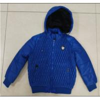 Buy cheap Blue Hooded Kids Padded Jacket Boys Adjustable Cuffs Anti Shrink from wholesalers