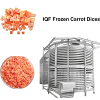 Buy cheap 500KG/H IQF Frozen Carrot Dices Quick Freezing Machine/Freeze Dry Fruit Machine from wholesalers