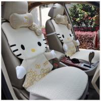 Buy cheap 12pcs beige cartoon hello kitty car seat cover rearview saddle seat cushion car supplies from wholesalers