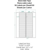 Buy cheap 8mm Data Tape Removable Label 56 Labels per Sheet/100 Sheets per Carton from wholesalers