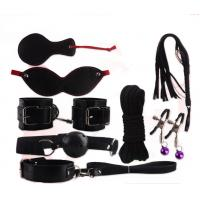 China 8 PCS Handcuffs Mouth Stuffed Patch Rope Sex Bondage Restraints Toys Set For Adult on sale