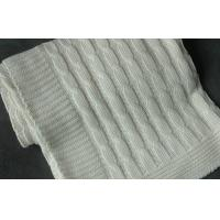 Buy cheap comfort touch 100 Organic Cotton Knitted Baby Blankets Wrap With Queen Size white from wholesalers