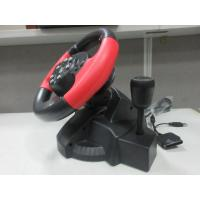 video game steering/ racing wheel with foot pedal for PC, X-INPUT, PS2, PS3 Manufactures
