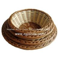Buy cheap PP plastic rattan bread basket from wholesalers