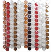 Buy cheap Circle Glass Mosaic.Red,White,Brown,Dotted, Dia23mm product