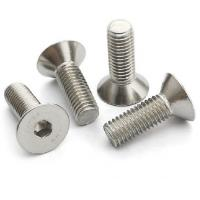 Buy cheap High Strength Allen Flat Head Socket Cap Screws With Flat Point Home Depot Din 7991 from wholesalers
