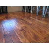 Buy cheap UV finished Acacia hand scraped solid wood flooring from wholesalers