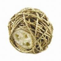 Wholesale Grass Ball with Loofah Inside, 100% Natural, Edible Toy for Rabbit or Guinea Pig from china suppliers
