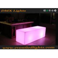 Buy cheap Outdoor Event glow furniture LED bench chair / stools Waterproof from wholesalers