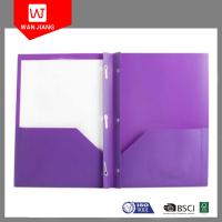 Buy cheap Office supplies hot document file PP plastic 3 prong file folder with two pockets and business card slot from wholesalers