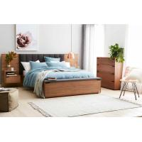 Buy cheap Hotel Room Furniture Luxurious Fabric Upholstered Headboard Storage with Foot Box and Nighstand in Guestroom sets from wholesalers