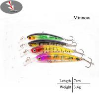 7cm/3.4g Hard minnow fishing lure minnow lure Manufactures