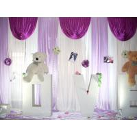 Buy cheap ceremony backdrop wedding hall decorate event backdrop event venue drape event backdrop layout from wholesalers