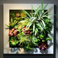 Buy cheap Metal Frame Artificial Plants Wall Decoration Wall Mounted Hanging Art for Store from wholesalers