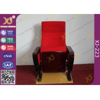 Buy cheap Modern Conference Room Chairs With Writing Pad In Arm / Metal Frame from wholesalers