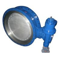 Buy cheap bare stem Double Three Eccentric Flanged Metal Seat Butterfly Valve of bkvalve from wholesalers