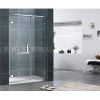 Buy cheap Customized Clear Tempered Glass Shower Screen 10MM 180 Degree Magnetic Seal Swing Door from wholesalers
