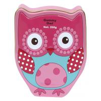 China Gummy Owl Tin Container With Embossment , Food Grade Metal Box ,Looks Awesome and Vivid ,Spot Color Printing and Vanish on sale