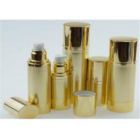 Buy cheap 10ml 15ml 20ml Shinny Gold Airless Pump Bottles For Personal Skin Care Cream from wholesalers