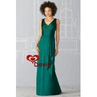 V-Neck Satin Bridesmaid Dress (BD-1207) Manufactures
