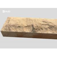 Wholesale Chiselled Yellow Mushroom Sandstone Stone For Decoration Walls / Columns from china suppliers