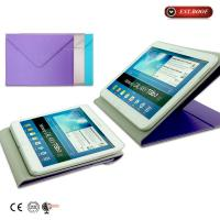 Buy cheap Envelope Soft Ipad Mini Leather Case Book Folding Wire Drawing Unique , Purple from wholesalers