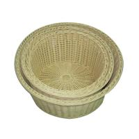 China Kitchen Storage Food Serving Baskets Handmade , Round Restaurant Food Containers on sale